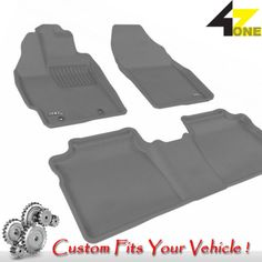3D Fits 2011-2011 Toyota Prius G3AC21993 Gray Waterproof Front and Rear Car Part