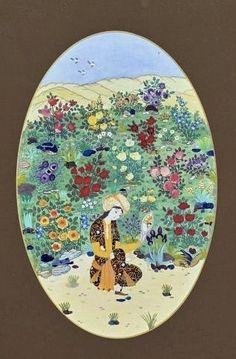 Aynalı kız  Dürdane Ünver(kâğıt oyma,katı') Oriental, Chicago Bulls, Islamic Art, Fashion Sketches, Art And Architecture, Paper Cutting, Miniatures, Ottoman, Posters