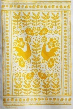 Leah Duncan tea towels...love these motifs. I would like to translate this into embroidery. Oven mitts?