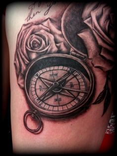 Love the detail and the realism.   Compass realistic detailed Tattoo by Slabzzz.deviantart.com on @deviantART