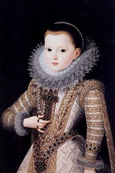 Juan Pantoja de la Cruz - Portrait of Ana de Austria of Spain as a Child.