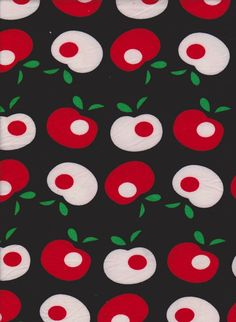 796ebdb97fc Red and White Apples on Black Double Brushed Poly Lycra Jersey Content: 96%  Polyester