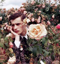 contemplative flower man | thistledown spirits