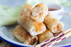 Vietnamese Spring Rolls - Cha Gio - Rasa Malaysia Cha Gio Recipe, Good Morning Vietnam, Vietnamese Spring Rolls, Rasa Malaysia, Snack Recipes, Snacks, Egg Rolls, Asian Recipes, Side Dishes