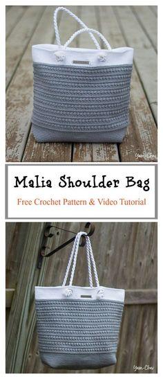 Malia Shoulder Bag Free Crochet Pattern and Video Tutorial #freecrochetpatterns