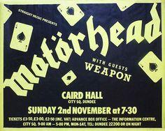 Motorhead Motorhead Concert Poster Motorhead Art Motorhead
