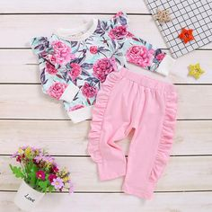 This cute floral outfit is perfect for Thanksgiving and the winter holidays, show off your kids in a very cute fashion.Sizes: and Plaid Outfits, Girl Outfits, Cute Gifts For Girls, Baby Girl Letters, Girls Long Sleeve Tops, Baby Swag, Cute Halloween Costumes, Cute Fashion, Fall Fashion