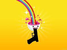 Rainbow shooting gun