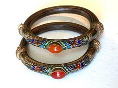 Bracelet Set, Bangle Bracelets, Bangles, Necklaces, Nail Guards, Silver Metal, Awesome, Amazing, Amber
