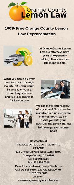 California Lemon Laws Dmv Org >> 14 Best Experienced Orange County Lemon Law Lawyer Images In 2019
