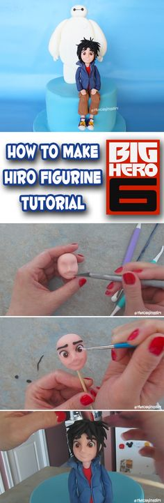How to make Human Figurine Tutorial Hiro from Big Hero 6 Disney DIY cake topper Gumpaste/Fondant www.thecakinggirl.ca