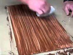 Pintura que Imita Madeira - YouTube