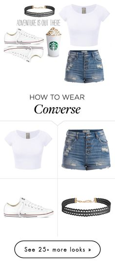 """A m a z i n g"" by kamilla-fyle on Polyvore featuring Humble Chic, Converse and Pieces"