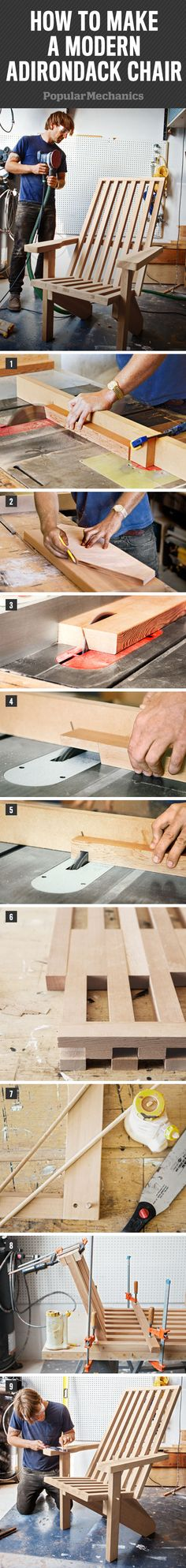 How to make a modern Adirondack chair - Pinning this for next summer!