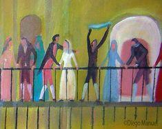 25 de mayo de 1810. Cuadro en venta de la Serie Historia Argentina del artista plastico Diego Manuel