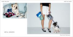 Inge Christopher's matte blue Pouch Clutch in Shopbop's Spring Accessories Lookbook