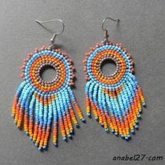 Серьги из бисера в стиле бохо seed bead earrings #beadwork #beading #boho by corinne