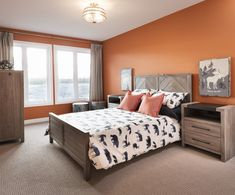 This is a secondary bedroom in the Cortland townhome model home in Findlay Creek. Model Homes, Townhouse, Bedroom, Furniture, Home Decor, Room, Homemade Home Decor, Decoration Home, Terraced House