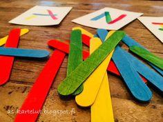 AS-kartelut: Väritikut #väritikut #opiskelu #opileikiten #värienoppiminen Plastic Cutting Board, Kids, Young Children, Boys, Children, Boy Babies, Child, Kids Part, Kid