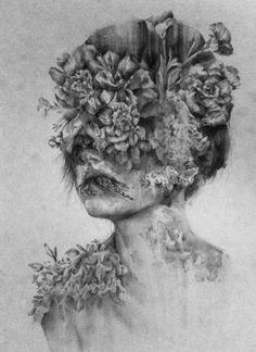 Juxtapoz Magazine - Drawings by Jessica Stewart Love Drawings, Art Drawings, Beautiful Drawings, Jessica Stewart, Decay Art, Art Blanc, Growth And Decay, Psy Art, Illustration Art
