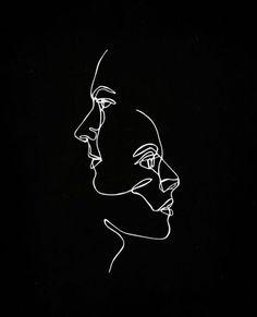phone wallpaper aesthetic Same Thought II. Art Sketches, Art Drawings, Minimalist Art, Minimalist Wallpaper, Line Drawing, Art Inspo, Line Art, Iphone Wallpaper, Pastel Wallpaper