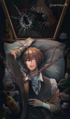 This piece also have a lot of explanation in my FB comment section All about how I felt about Dazai (but in Chinese) If you're interested please have a look, thank you! Dazai Bungou Stray Dogs, Stray Dogs Anime, Anime Demon, Manga Anime, Anime Art, Garçon Anime Hot, Anime Love, Bungou Stray Dogs Characters, Handsome Anime Guys