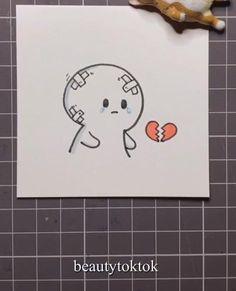 Easy Doodles Drawings, Mini Drawings, Art Drawings For Kids, Art Drawings Sketches Simple, Cute Easy Doodles, Drawing Tutorials For Kids, Chalk Drawings, Pencil Drawings, Cute Doodle Art