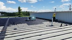 Article: Liquid Rubber Coating Ponoka To Industrial Metal Roof. Below you will find the process of installing a liquid rubber coating. Bragg Creek, Industrial Metal, Roof Repair, Metal Roof, Calgary, Deck, Outdoor Decor, Front Porches, Decks