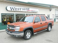 Used Trucks for Sale in Wisconsin at WestsideService.com |  2004 Chevrolet Avalanche 1500 4WD.  #usedtruckswi #usedtruckswisconsin #usedtrucks #trucksforsale