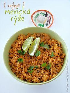 1. Vložte rýži, bujón, vodu a máslo do hrnce. 2. Přiveďte k varu a vařte na nižším stupni asi 20 minut. Sundejte z plotny a nechte přikryté... Fajitas, Enchiladas, Fried Rice, Fries, Favorite Recipes, Treats, Ethnic Recipes, Food, Diet