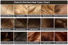 brown hair colors chart