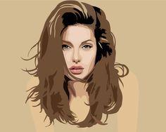 Angelina Jolie by Ilko94 - vector drawing  / First pinned to Celebrity Art board here... http://www.pinterest.com/fairbanksgrafix/celebrity-art/ #Drawing #Art #CelebrityArt #AngelinaJolie