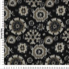 Red Tag Decorator Fabric - Black and Tan Chenille Fabric