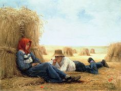 Harvest Time - Julien Dupre, 1878, private collection