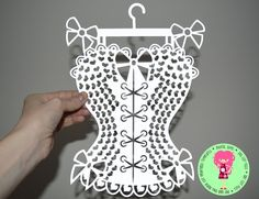 Burlesque Corset Paper Cut Template SVG / DXF Cutting File for Cricut / Silhouette & PDF Printable For Hand Cutting Download, Commercial Use by DigitalGems on Etsy