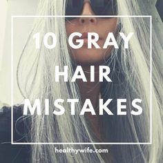 10 Gray Hair Mistakes Everyone is making. Gray hair needs special attention to l… 10 Gray Hair Mistakes Everyone is making. Gray hair needs special attention to looks its best. Get all the gray hair tips so you can look your best with your silver hair. Grey Hair Care, Grey Curly Hair, Long Gray Hair, Curly Hair Styles, Natural Hair Styles, Grey Hair In 20s, Grey Hair Cover Up, Grey Brown Hair, Short Silver Hair