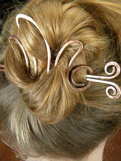 Hair Cup Hair Accessories Metal Hair Clip by ElizabellaDesign