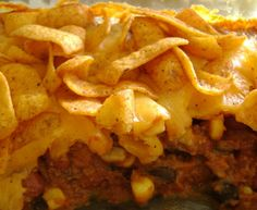 Quick Easy Chili Freeto Pie - We like plain Fritos in this.