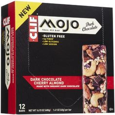 Clif Mojo Bar Dark Chocolate Nutrition Bar, Cherry Almond, 12 Count (Pack of 12) - http://mygourmetgifts.com/clif-mojo-bar-dark-chocolate-nutrition-bar-cherry-almond-12-count-pack-of-12/