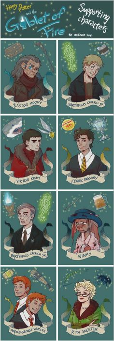 Harry Potter and the Goblet of Fire, supporting characters Harry Potter Fan Art, Mundo Harry Potter, Harry Potter Pictures, Harry Potter Drawings, Harry Potter Characters, Harry Potter Universal, Harry Potter Hogwarts, Harry Potter World, Hogwarts