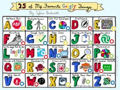 25 of My Favorite Googly Things!!! This is most epic indeed - Love that this was designed as a Sketch Note and then Thinglinked! #TotalWin