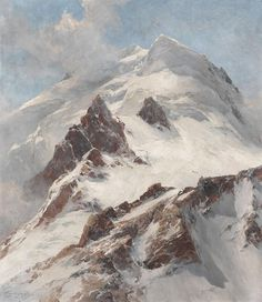Edward Theodore Compton (1849-1921), Piz Morteratsch,  view from Fuorcla Boval on the northern flank