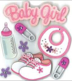 Jolee's Boutique Dimensional Stickers-Baby Girl, , hi-res  $4.99