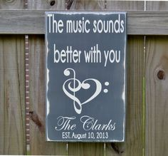 Wedding Sign Personalized Wedding Gift The Music by CSSDesign, $40.00
