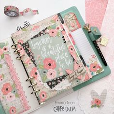 Carpe Diem Planner featuring the Romance Collection by design team member Emma Toon