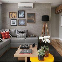 Decoração da sala com almofadas geométricas - Jeito de Casa