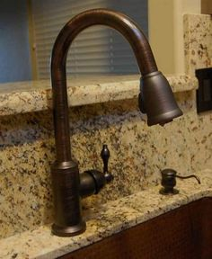 Oil rubbed bronze kitchen faucet and under mount sink complete this ...