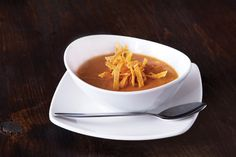 From the menu of California Pizza Kitchen, Atlantic Station, 264 St. Vegetarian Tortilla Soup, Chicken Tortilla Soup, Vegetarian Recipes, Healthy Recipes, 21dayfix Recipes, Chicken Soups, Healthy Soup, Healthy Meals, Recipes