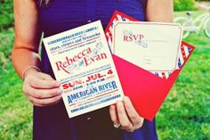 These adorable red, white, and blue save the dates, invitations, and programs may convince you to throw a patriotic wedding yourself!