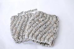 Pattern The Twist Knit Boot Cuff Pattern Knit by ToppledTurtle